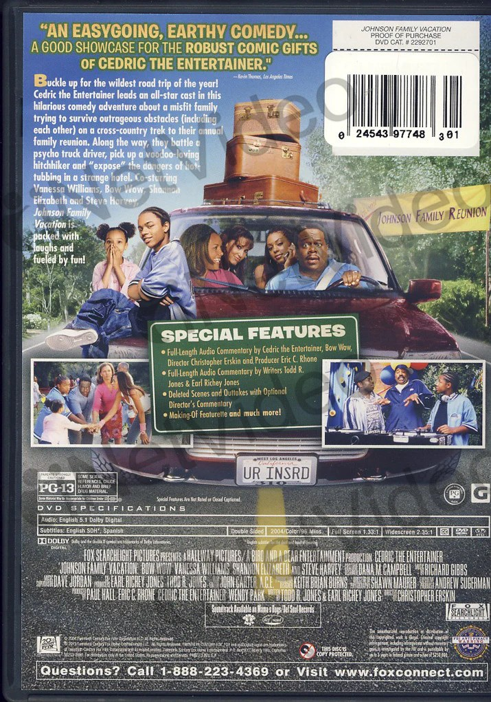 Johnson Family Vacation (Blue Cover) on DVD Movie