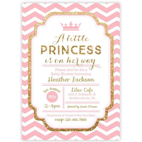 Princess Baby Shower Invitations
