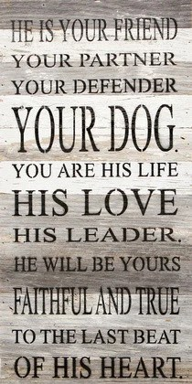 He Is Your Friend Your Partner Your Defender Your Dog
