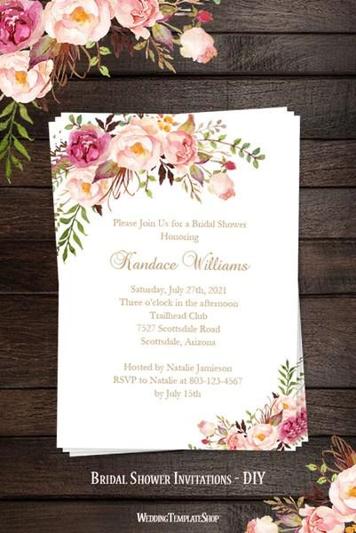 Romantic Bridal Shower Invitations