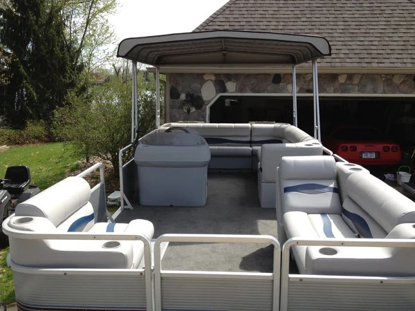 Another Harris FloteBote Rebuild PontoonStuffcom - Patio Furniture Clearance