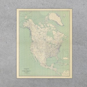 North America 1912 USGS Map     North America Map 1912 Natural