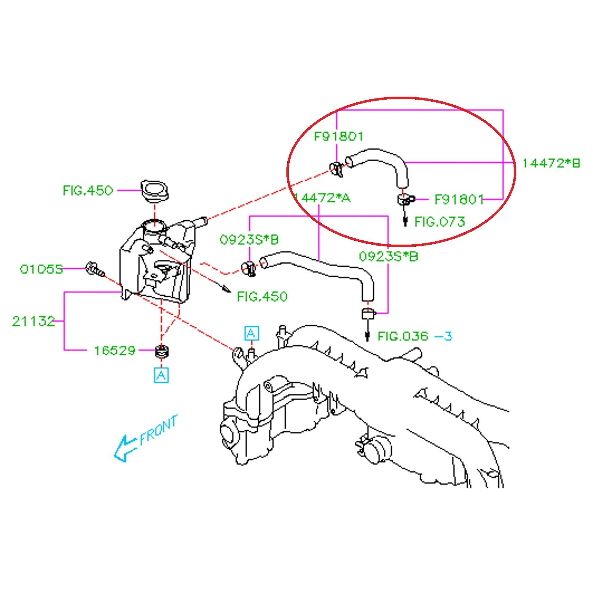 Subaru 2008 2014 wrx turbo to expansion tank hose fastwrx rh fastwrx subaru wrx