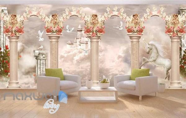 Wallpaper Forest Room Living