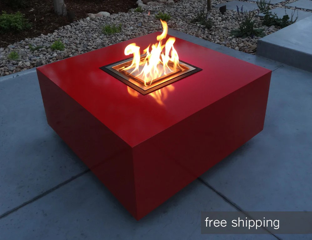 Modern Outdoor Fire Pit Denver Colorado Creative Living