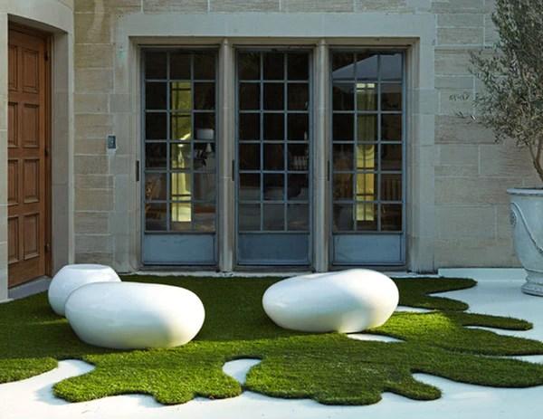 Large White Pebbles Garden