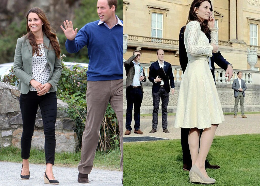 Kate Middleton Blue Wedge Shoes