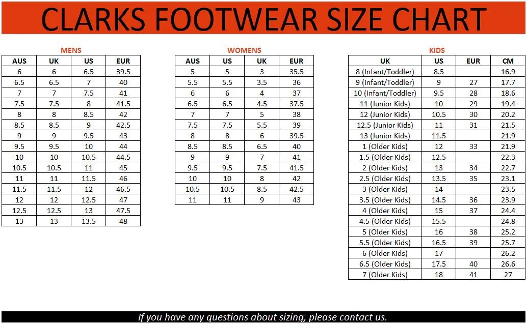 Clark Shoes Size