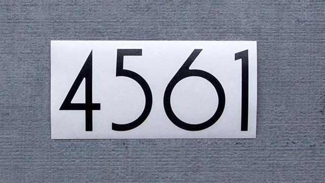 Numbers and Letters     Modern House Numbers     uninstalled vinyl numbers  arrive arranged in your number combination