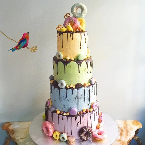 10 Summer Wedding Cake Ideas   Anges de Sucre Pastel Wedding Cake London