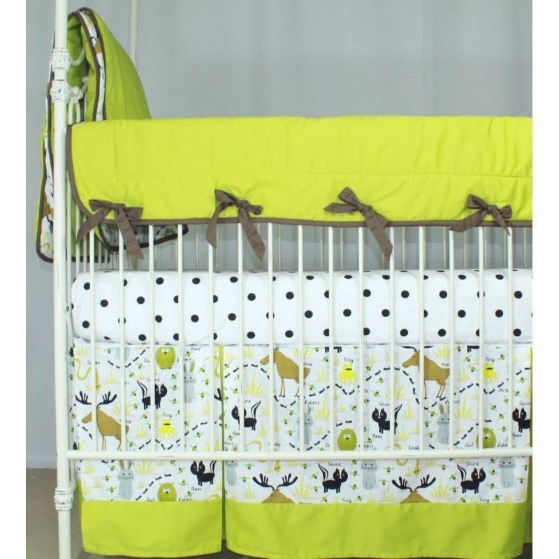 Woodland Animals Crib Bedding   Animal Print Baby Bedding ...