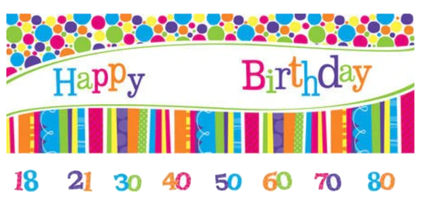 Giant Birthday Banner Customise Just Party Supplies Nz
