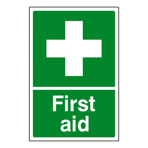First Aid Sign Pvc Safety Signs