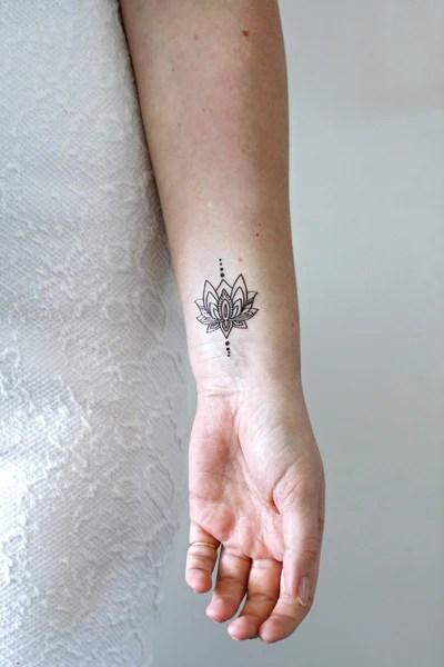 Henna Tattoo Arm Inside Panda