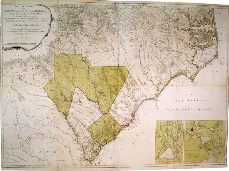 MOUZON  Henry  1741 1807   An Accurate Map of North and South     An Accurate Map of North and South