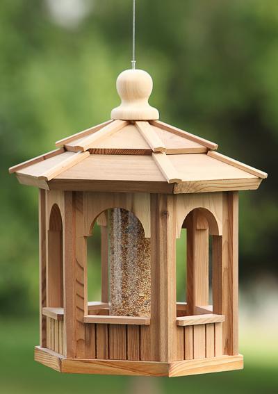 Hanging Cedar Gazebo Bird Feeders Wood Bird House Kits