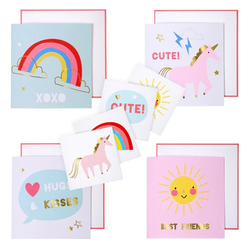 Unicorn Valentines Day Card And Tattoos Kit Missy S
