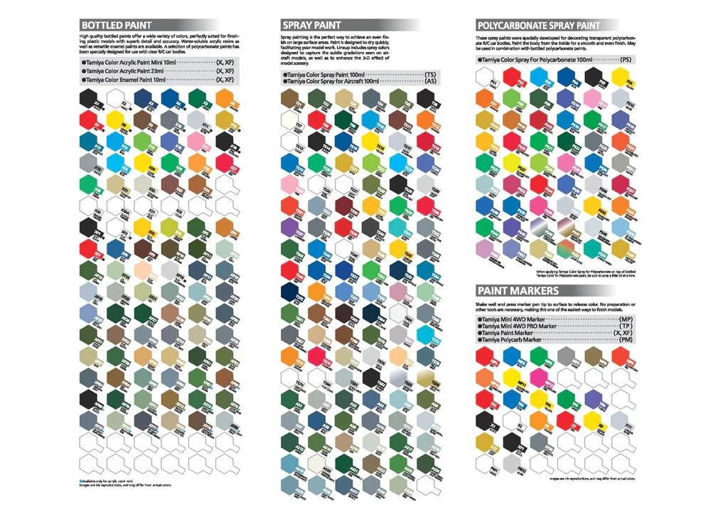 Gunze Mr Hobby Model Paint Color Chart