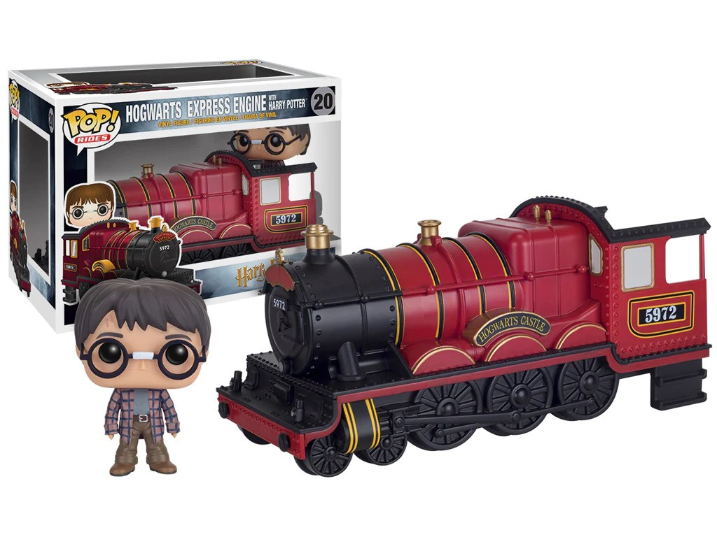 POP  Rides  Agents of S H I E L D    Director Coulson with Lola     Rides  Hogwarts Express Engine with Harry Potter