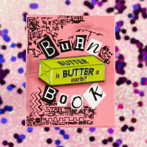 Quot Is Butter A Carb Quot Enamel Pin Mondo