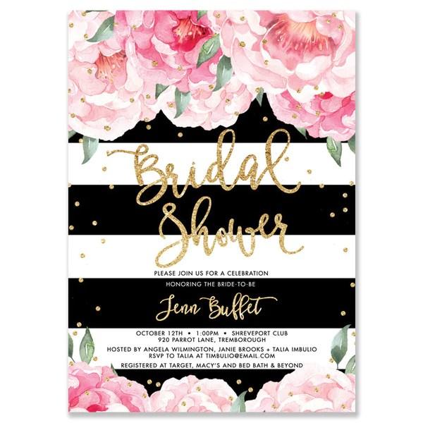 Wedding Shower Recipe Invitations