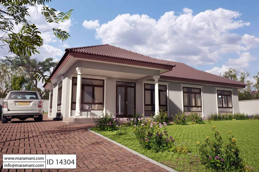 4 bedroom single story house plan   ID 14304   House Plans by Maramani