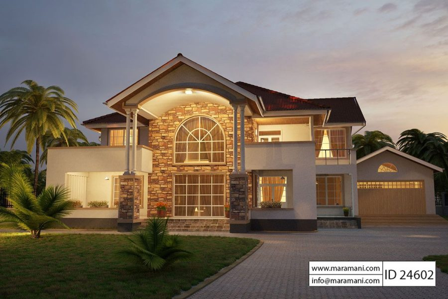 4 Bedroom House Plans   Designs for Africa   House Plans by Maramani 4 Bedroom House Plan   ID 24602