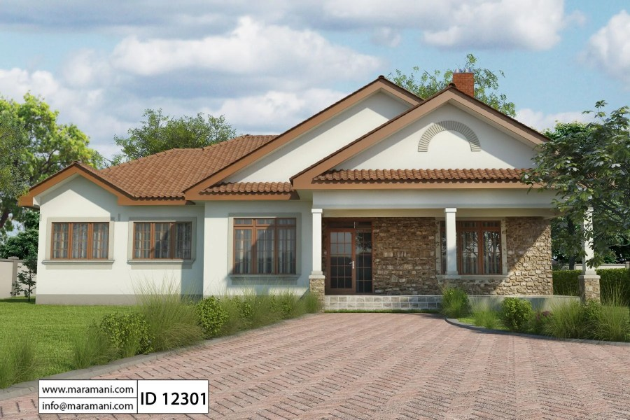 Simple 2 Bedroom House Plan   ID 13402   House Designs by Maramani