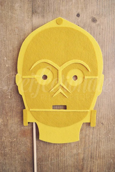 C3po Mask Prop C3po Photo Prop Star Wars Photo Booth