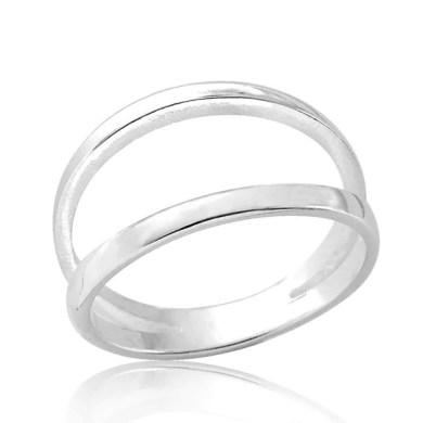 High Quality Double Band Sterling Silver Ring at PRJewel Double Band Sterling Silver Ring