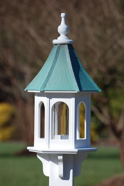 Copper Roof Bird Feeder Gazebo Vinyl Pvc Post Mounted