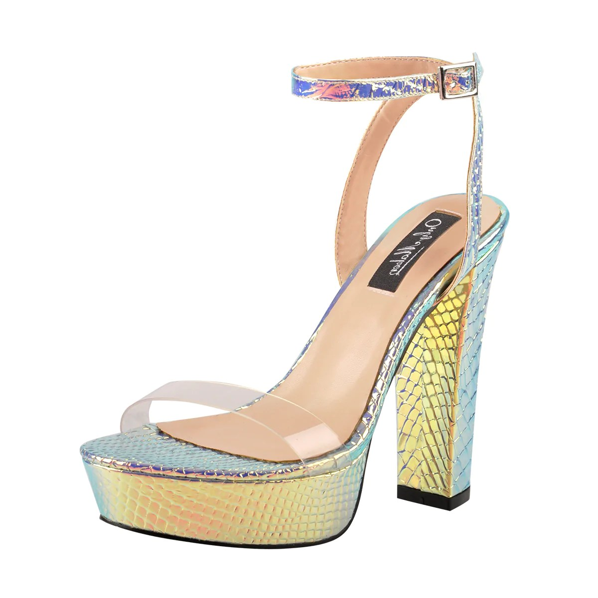 High Wedge Sandals Heel Clear 5 Size Color