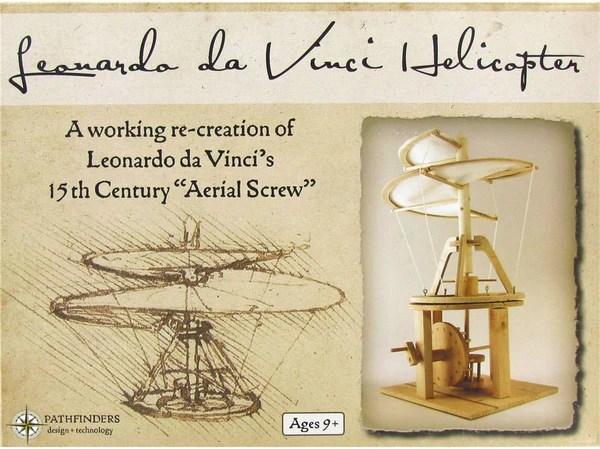 Pathfinders Da Vinci Helicopter Model Kit Toys2learn