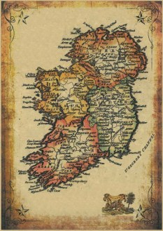 17th Century Map of Ireland     Print Shop Bunratty 17th Century Map of Ireland