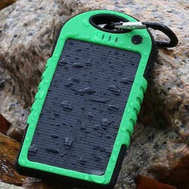 power banks Tagged  Chargers    Lot More Deals Dual Solar Phone Charger And Electric Power Bank Water Resistant 5000 mAh   US Only