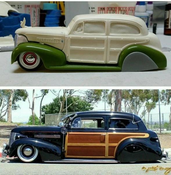 Resin Cast 1939 Chevy 2 Door Sedan Woody Body Greaser S