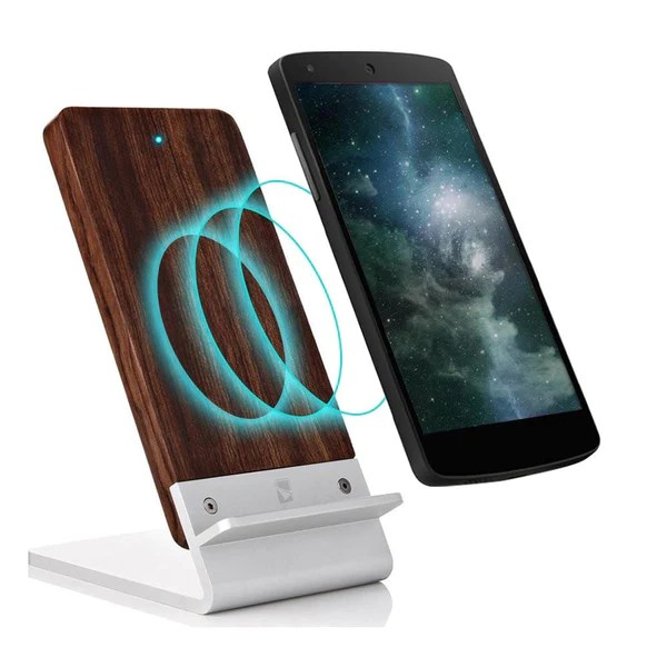 Cooper Ecostand Qi Wireless Wood 3 Coil Charging Stand For