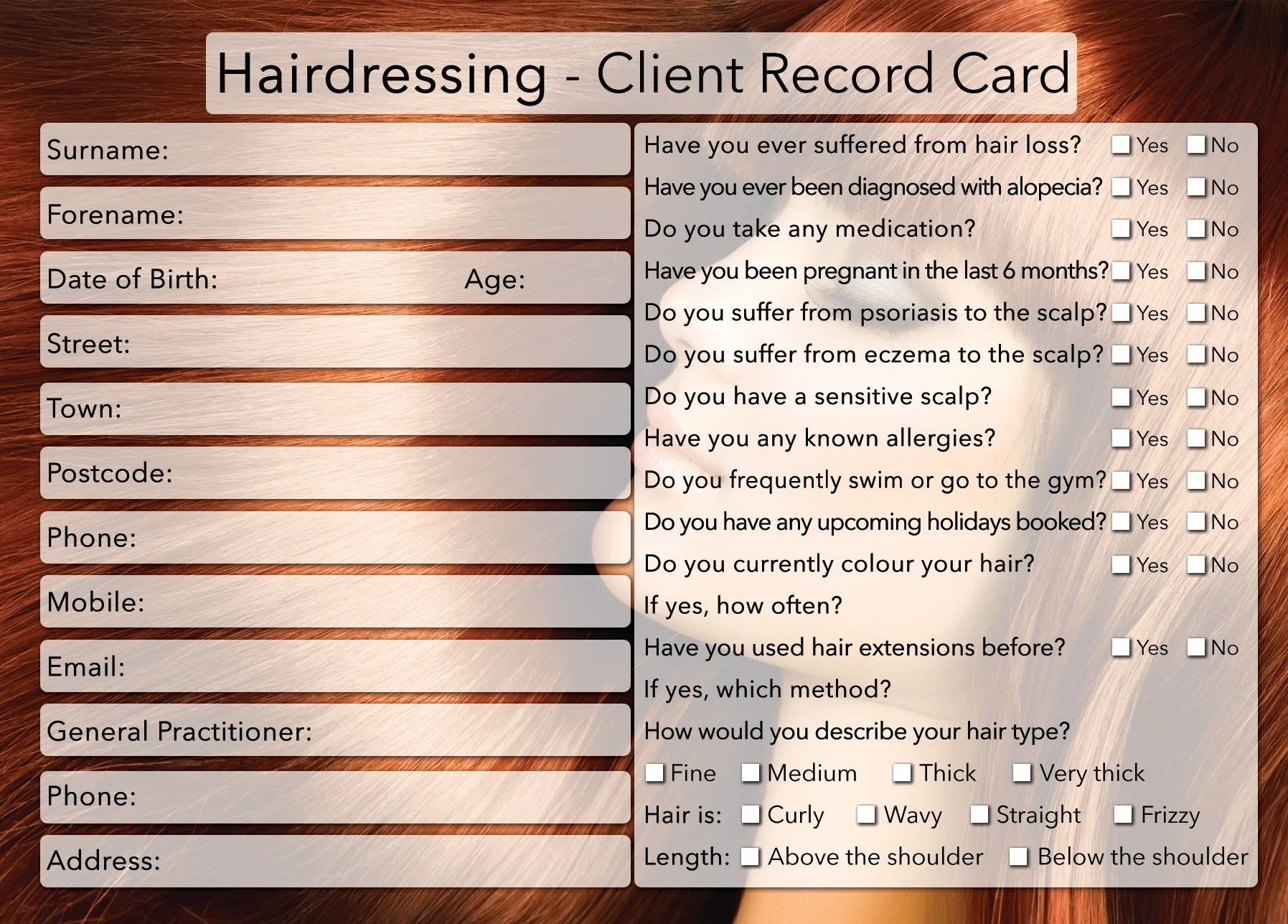 Cosmetology Client Consultation