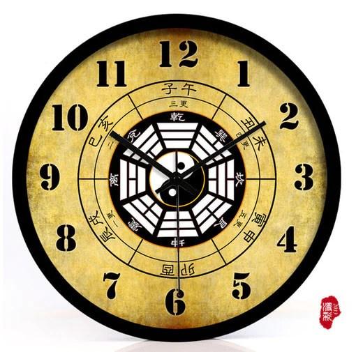 Chinese Feng Shui Bagua Wall Clock 3 Sizes Wudang Store