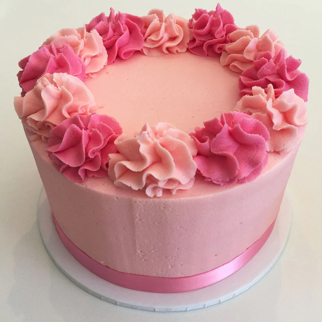 Hot Pink And White Birthday Cakes