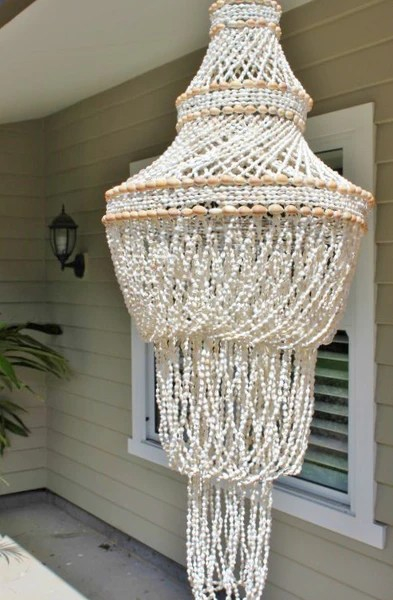 Large White Pendant Light