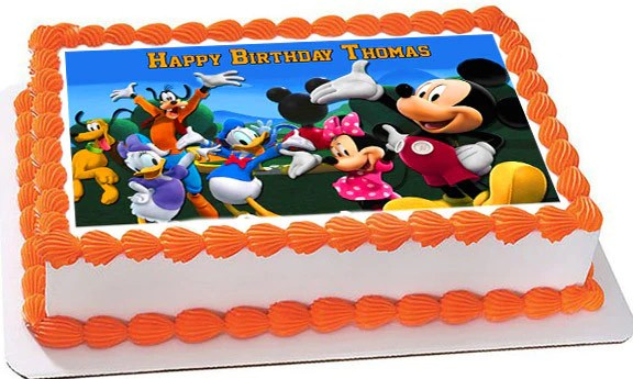 Mickey Mouse Clubhouse 4 Edible Cake Topper Amp Cupcake