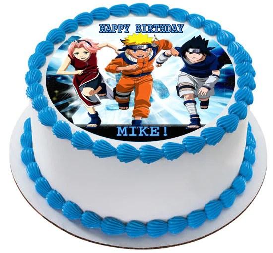 Naruto 3 Edible Birthday Cake Or Cupcake Topper Edible