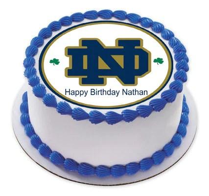Notre Dame Fighting Irish Edible Cake Topper Amp Cupcake