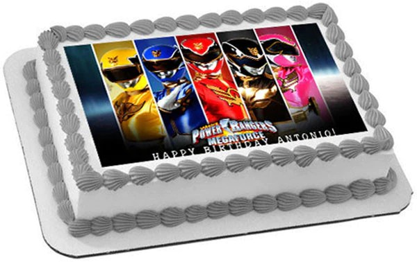 Power Rangers Megaforce Edible Cake Or Cupcake Topper