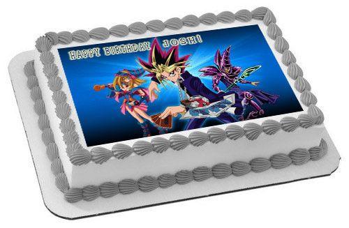 Yu Gi Oh 2 Edible Birthday Cake Or Cupcake Topper Edible