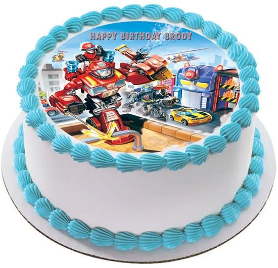 Transformers Rescue Edible Cake Or Cupcake Topper Edible