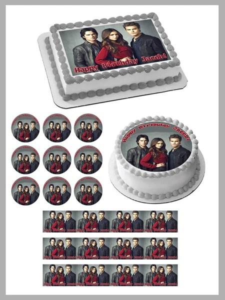 Vampire Diaries Edible Birthday Cake Or Cupcake Topper