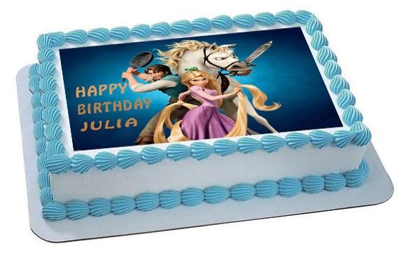 Tangled Edible Birthday Cake Or Cupcake Topper Edible