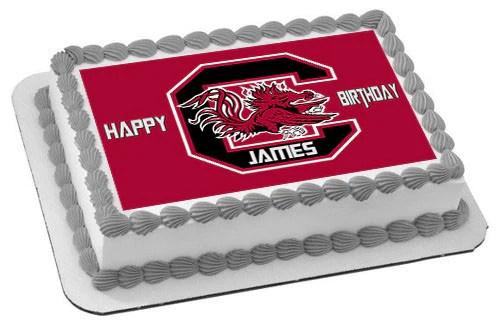 South Carolina Gamecocks Edible Birthday Cake Or Cupcake